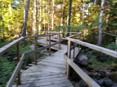 Bro på Örsjö vandringsled